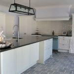 Weiße Küche Küche Weiße Küche Projekt 02 Weie Kche Aus Eichenholz Mit Schwarzer Granitplatte Nolte Modulküche Ebay Einbauküche Teppich Für Sitzecke Wandfliesen Küchen