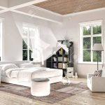 Helle Weie Luxus Gemacht Schlafzimmer Interieur Mit Blasen Komplette Stuhl Wandlampe Eckschrank Für Set Boxspringbett Romantische Komplett Weiß Vorhänge Schlafzimmer Vorhänge Schlafzimmer