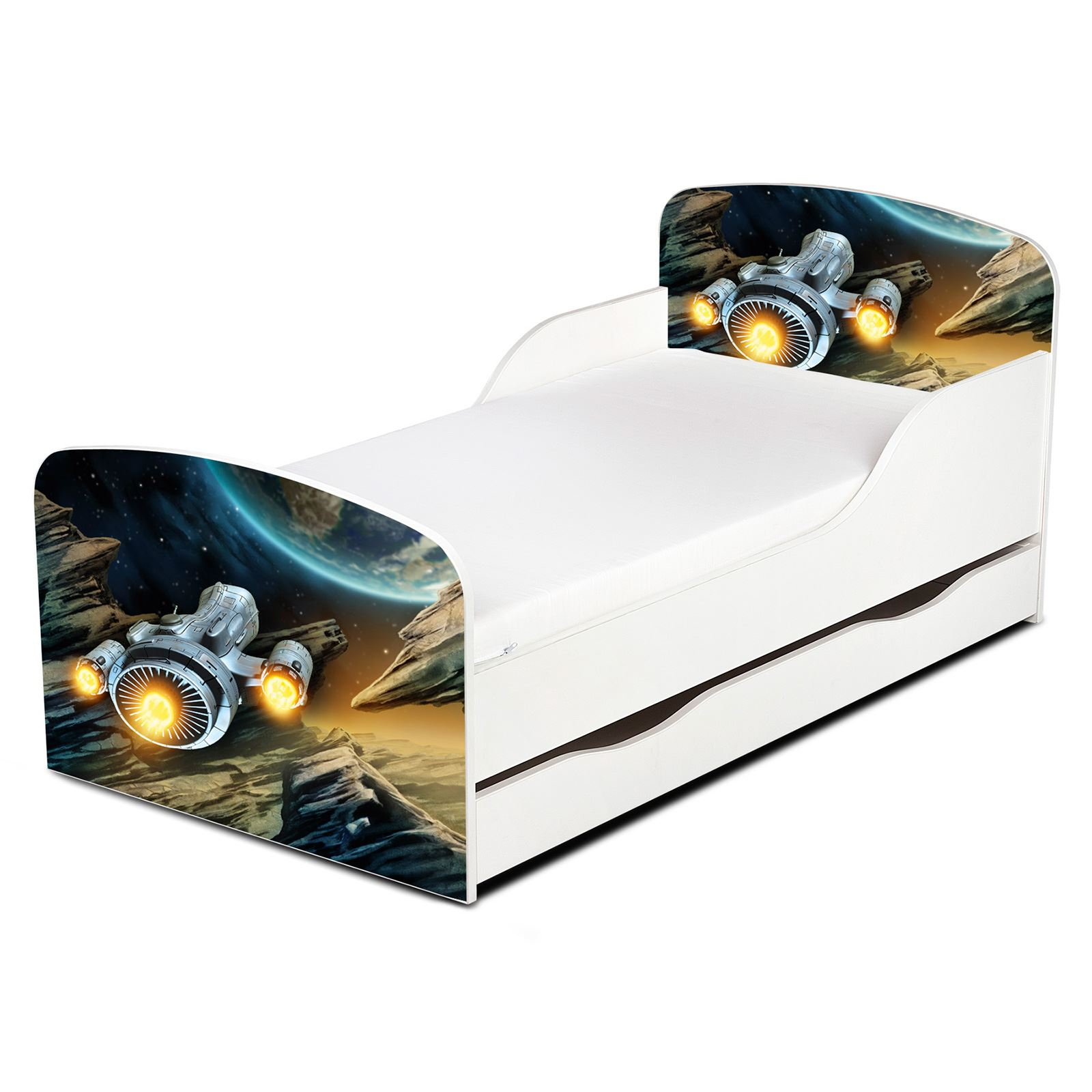 Full Size of Bett Mit Unterbett Righthome Raumschiff Kleinkind Betten 90x200 Bei Ikea Skandinavisch Weißes 140x200 Home Affaire 180x200 Schwarz Matratze Und Lattenrost Bett Bett Mit Unterbett