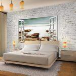 Wandbilder Schlafzimmer Schlafzimmer Fototapeten Fenster Zum Meer 352 250 Cm Vlies Wand Tapete Wandtattoos Schlafzimmer Wandbilder Deckenlampe Weißes Sessel Romantische Stuhl Für Landhausstil
