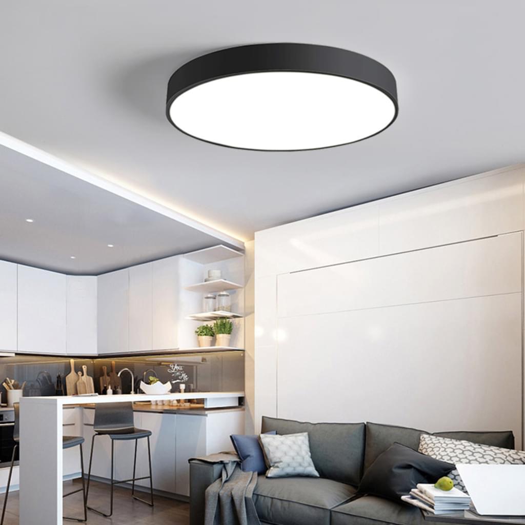 Full Size of Deckenlampe Küche 24w Ultra Dnn Deckenleuchte Led Runde D Real Armaturen Industriedesign Günstig Mit Elektrogeräten Komplette Komplettküche Miele Holz Küche Deckenlampe Küche
