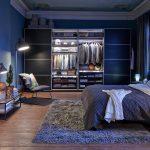 Schlafzimmer In Blau Beistelltisch Bett Teppich Kronleuchter Kommode Stuhl Lampe Fototapete Für Küche Schimmel Im Komplette Bad Landhausstil Weiß Schlafzimmer Schlafzimmer Teppich