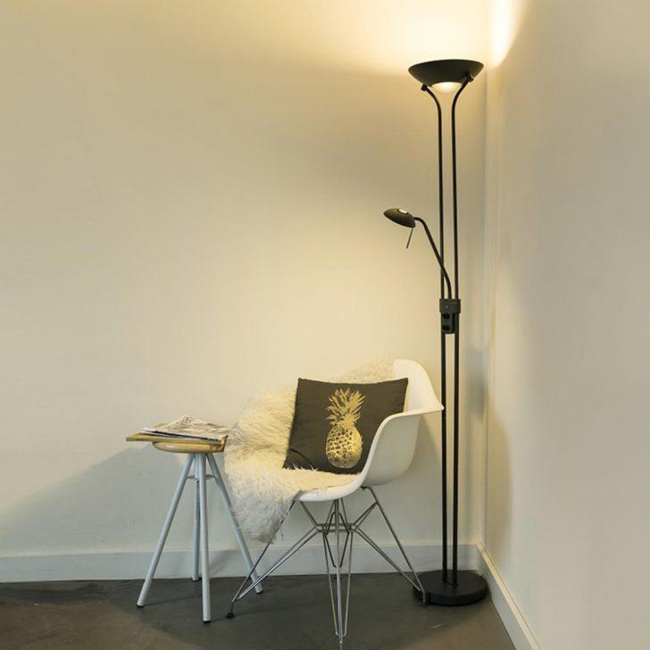 Medium Size of Stehlampe Schlafzimmer Qazqa Modern Stehleuchte Standleuchte Real Kommode Teppich Set Weiß Stuhl Für Mit Matratze Und Lattenrost Klimagerät Boxspringbett Schlafzimmer Stehlampe Schlafzimmer