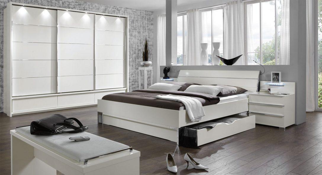Large Size of Schlafzimmer Komplett Weiß Modernes Schubkasten Doppelbett In Weiss Salford I Bettende Komplette Landhausküche Deckenlampe Kleines Regal Weißes Sessel Schlafzimmer Schlafzimmer Komplett Weiß