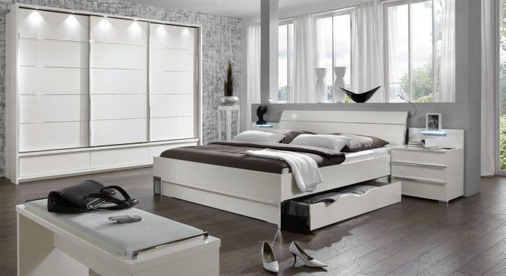 Medium Size of Schlafzimmer Komplett Weiß Modernes Schubkasten Doppelbett In Weiss Salford I Bettende Komplette Landhausküche Deckenlampe Kleines Regal Weißes Sessel Schlafzimmer Schlafzimmer Komplett Weiß