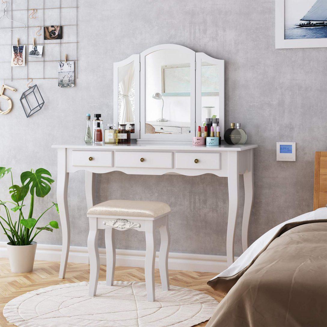 Large Size of Schlafzimmer Stuhl Weie Schminktisch Hocker Make Up Seat Home Fototapete Teppich Klimagerät Für Rauch Schranksysteme Lampe Komplett Günstig Deckenleuchten Schlafzimmer Schlafzimmer Stuhl