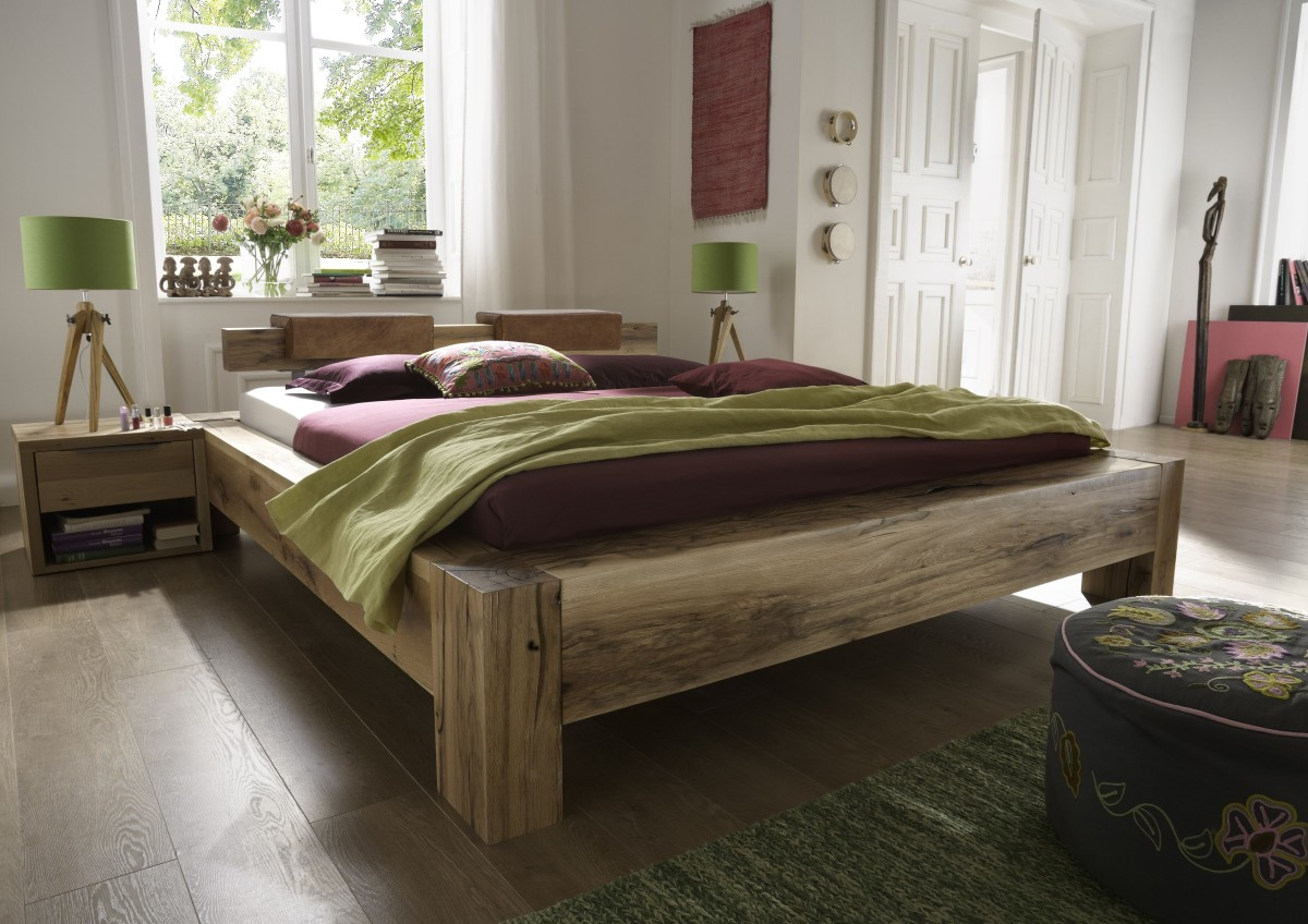 Full Size of Bett 200x220 Echtholz Balkenbett Unikat Mit Natrlichen Wuchsrissen überlänge Betten De Paletten 140x200 Kopfteile Für 1 40 200x180 Schubladen 180x200 Bett Bett 200x220