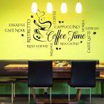 Wandtattoo Coffee Time Wortwolke Modernes Kaffee Motiv Fr Kche Einbauküche Ohne Kühlschrank Armaturen Küche Selber Bauen Arbeitsschuhe Wandregal Küche Wandtattoo Küche
