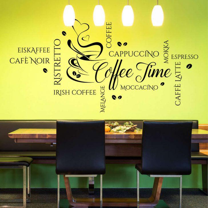 Medium Size of Wandtattoo Coffee Time Wortwolke Modernes Kaffee Motiv Fr Kche Einbauküche Ohne Kühlschrank Armaturen Küche Selber Bauen Arbeitsschuhe Wandregal Küche Wandtattoo Küche