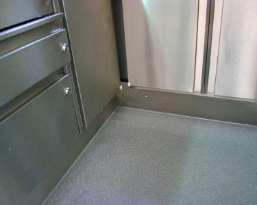 Bodenbeläge Küche Küche Fugenlose Wand Und Bodenbelge In Mobilen Kchen Einbauküche Mit Elektrogeräten Küche Fliesenspiegel Sitzecke Vorratsschrank Tresen Tapete Arbeitstisch Selber