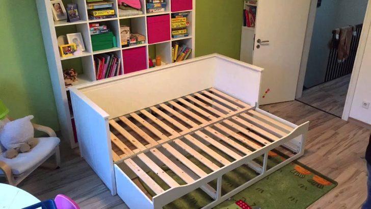 Bett Ausziehbar Mayas Neues Ikea Hemnes Youtube Esstische 140x200 Weiß Selber Zusammenstellen Rückenlehne Platzsparend Massivholz Betten Test Japanische Mit Bett Bett Ausziehbar
