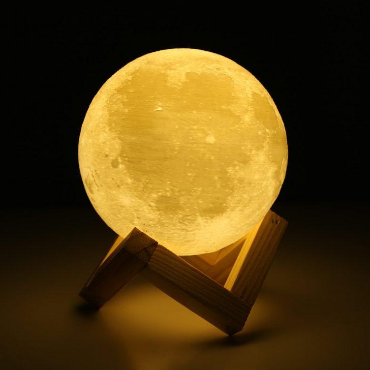Medium Size of 3d Lichter Print Mond Lampe 2 Farbwechsel Touch Stehlampe Schlafzimmer Günstig Komplettes Regal Vorhänge Lampen Hängelampe Wohnzimmer Wandtattoo Sessel Schlafzimmer Schlafzimmer Lampe