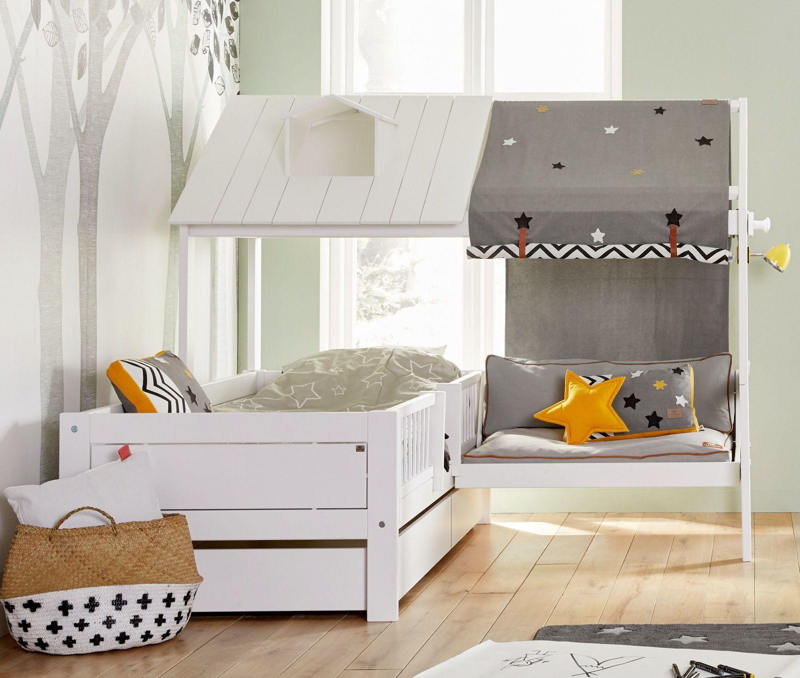 Full Size of Kinder Bett Lifetime Kinderbett Mit Angebautem Sofa Und Dach Ferienhaus Bettwäsche Sprüche Selber Zusammenstellen Amerikanische Betten Topper Bettkasten Bett Kinder Bett