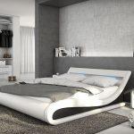 Bett Modern Design Italienisches Puristisch Belana Weiss Schwarz 140x200 Cm Mit Led Beleuchtung Polsterbett Massivholz Hohes 180x200 Bettkasten Tempur Betten Bett Bett Modern Design