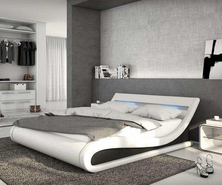 Medium Size of Bett Modern Design Italienisches Puristisch Belana Weiss Schwarz 140x200 Cm Mit Led Beleuchtung Polsterbett Massivholz Hohes 180x200 Bettkasten Tempur Betten Bett Bett Modern Design
