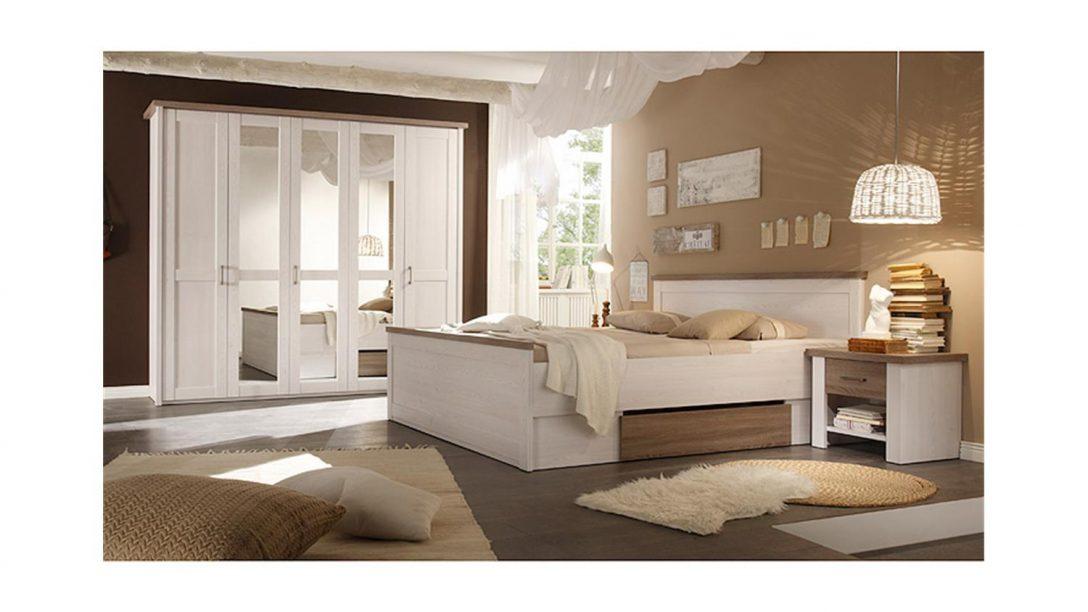 Large Size of Schlafzimmer Set Weiß Luca Pinie Wei Und Trffel 4 Teilig Mit überbau Weißes Regal Sofa Grau Betten 140x200 Sessel Sitzbank Stehlampe Hochglanz Klimagerät Schlafzimmer Schlafzimmer Set Weiß