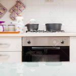 Tresen Küche Kche Interieur Mit Kochtpfen Auf Gasherd Eckküche Elektrogeräten Rosa Billig L Kochinsel Wasserhahn Für Einbauküche Ohne Kühlschrank Küche Tresen Küche
