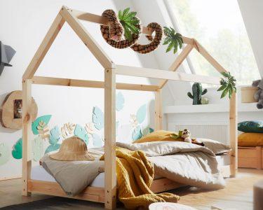 Bett Holz Bett Wohnling Kinderbett Haus 160x80 Cm Kiefer Holz Bett Kinder Schlafzimmer Komplett Massivholz 160x220 120x200 Mit Bettkasten Betten Schubladen 180x200 Lattenrost