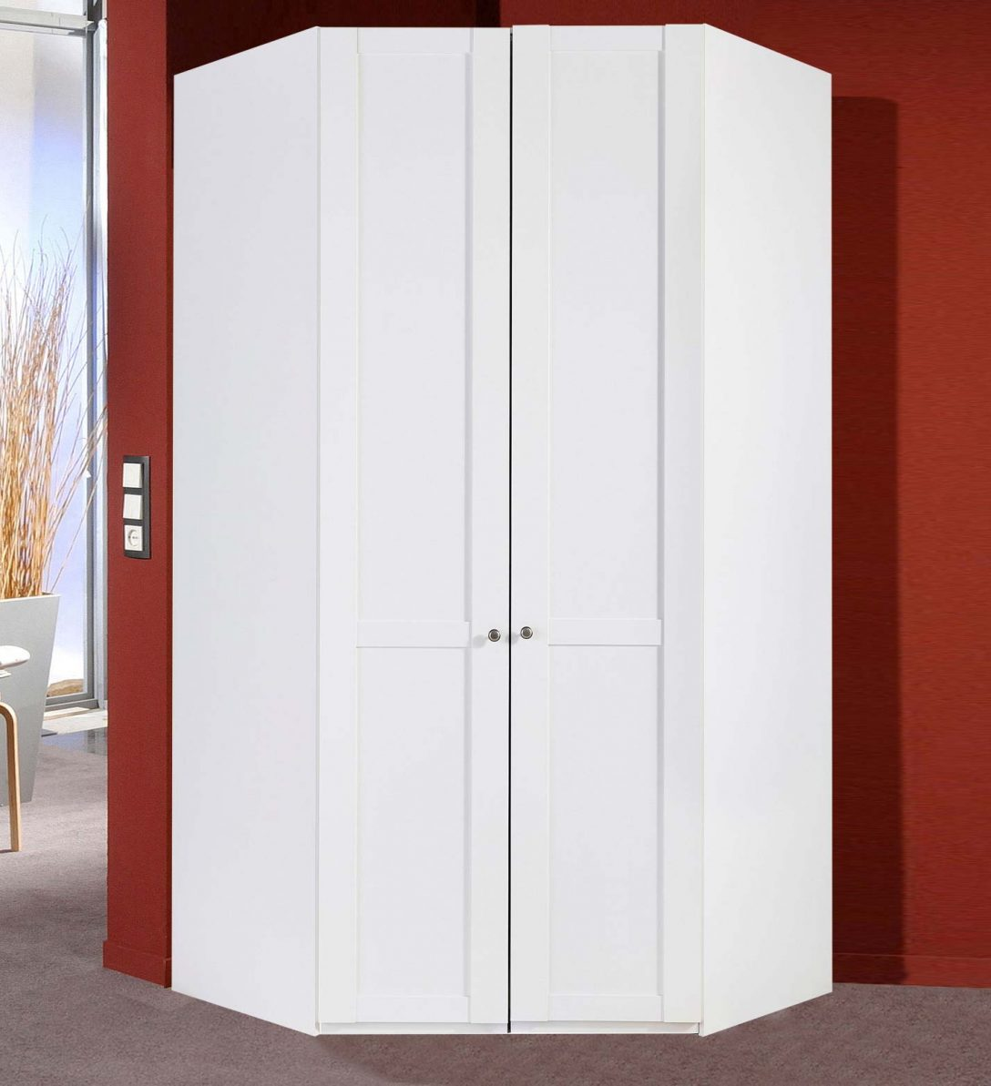 Large Size of Eckschrank Schlafzimmer Kleiderschrank Newport 120x120cm Wei Mit Beleuchtung Set Weiß Komplette Kronleuchter Deckenleuchte Deckenlampe Komplett Massivholz Schlafzimmer Eckschrank Schlafzimmer