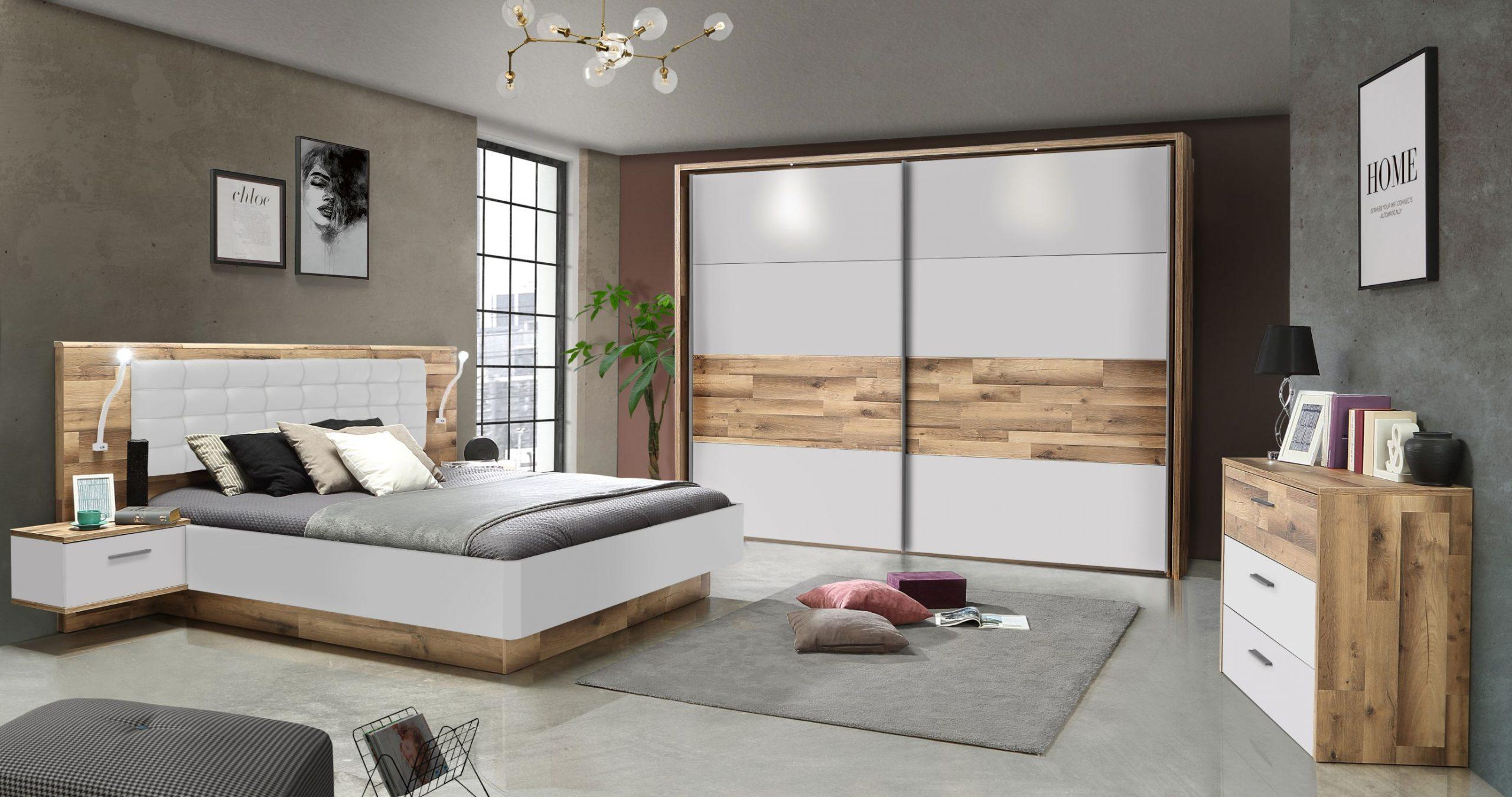 Full Size of Schlafzimmer Set 3 Tlg Modern Way Von Forte Stabeiche Weiss Matt Massivholz Wandleuchte Komplette Kommode Truhe Weiß Esstisch Günstig Deckenlampe Schlafzimmer Schlafzimmer Set