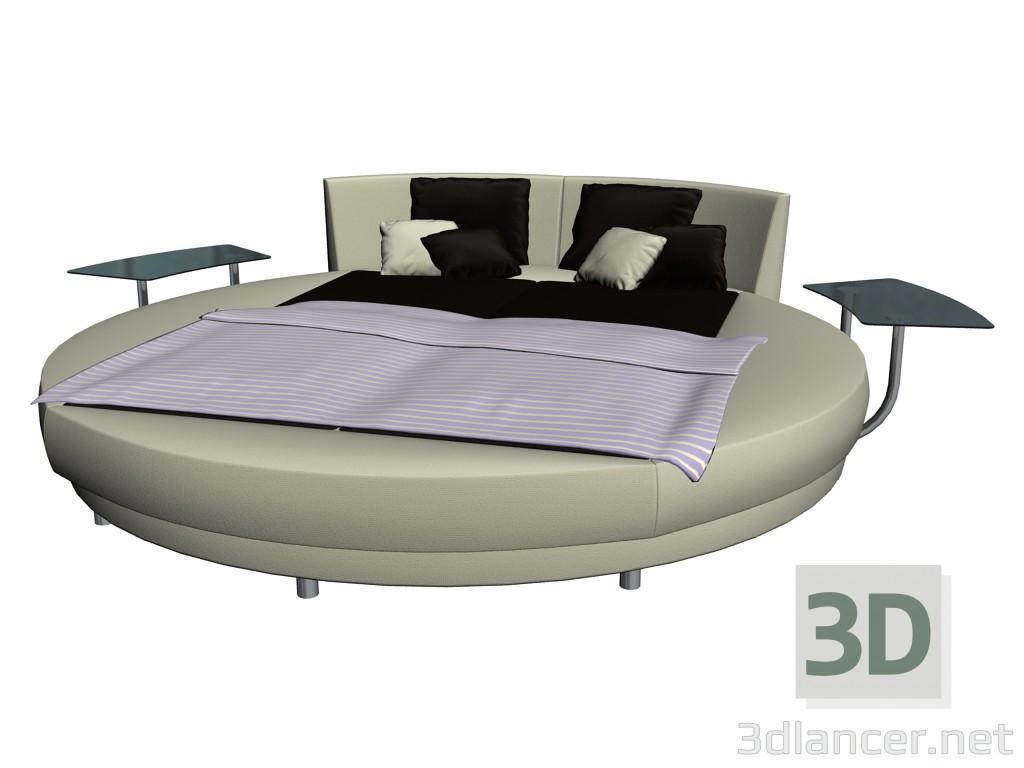 Full Size of 3d Model Rundes Bett Circolo Hohe Betten Mädchen 2m X 120 200 Eiche Landhausstil Clinique Even Better Foundation Liegehöhe 60 Cm 160x200 180x200 Ikea 120x200 Bett Rundes Bett
