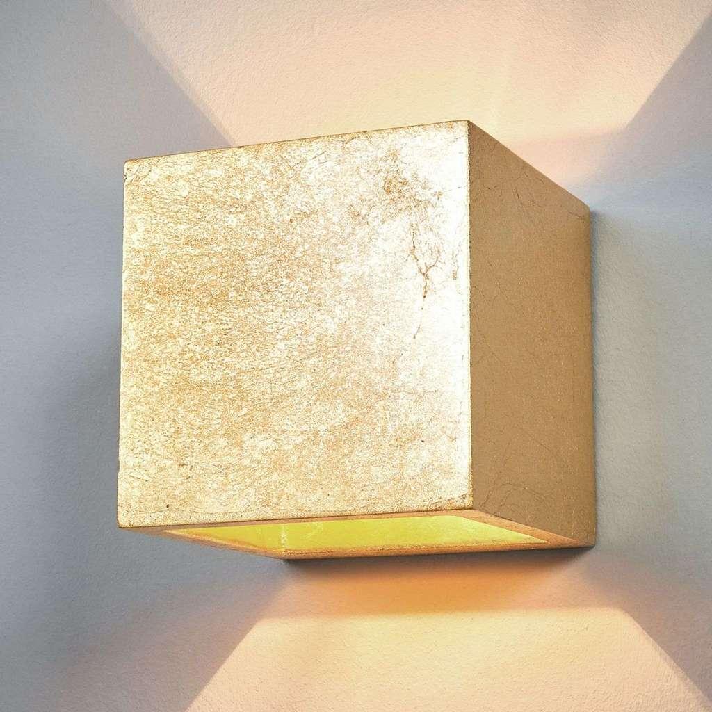 Full Size of Wandlampe Yade Wrfel Gold Wandleuchte Lampenwelt F Real Schlafzimmer Landhaus Sessel Gardinen Für Deckenleuchte Tapeten Nolte Kronleuchter Komplettes Schlafzimmer Wandleuchte Schlafzimmer