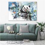 Wandbilder Schlafzimmer Tzxdbh Ein Stck Poster Niedlichen Panda Abstrakte Malerei Lampe Deckenleuchten Günstige Stuhl Led Deckenleuchte Massivholz Schimmel Im Schlafzimmer Wandbilder Schlafzimmer