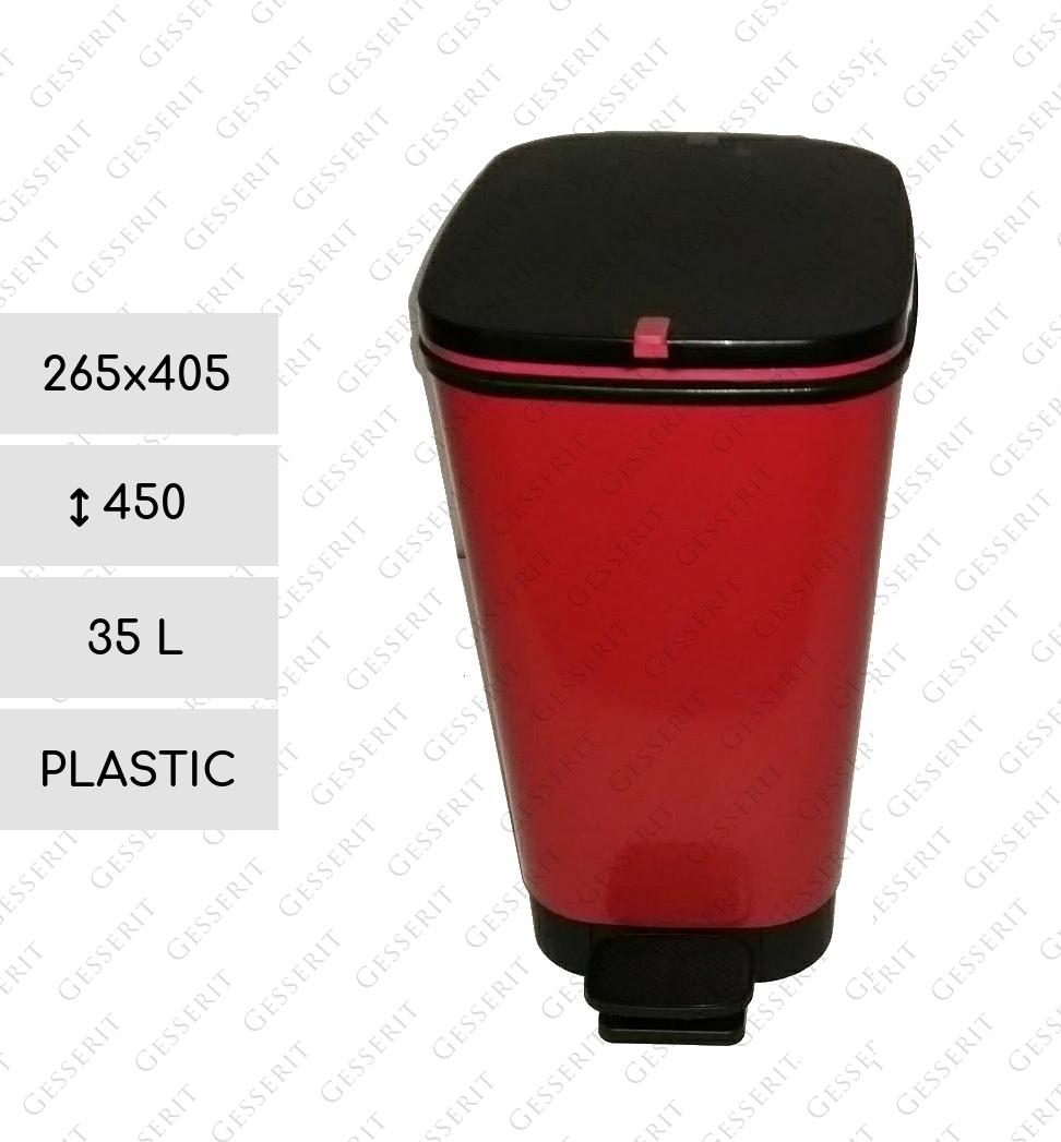 Full Size of Red Pedal Bin 35 Liter Kunststoff Rot Treteimer Spülbecken Küche Kaufen Mit Elektrogeräten Arbeitsschuhe Ebay Einbauküche Auf Raten Vinylboden Küche Abfallbehälter Küche