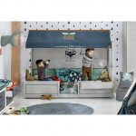 Lifetime 4 Kinderbetten In 1 Grau Mit Hausdach Luxus Bett Sitzbank Großes Rückenlehne Ruf Oschmann Betten Zum Ausziehen Amerikanisches Outlet Bette Bett Lifetime Bett