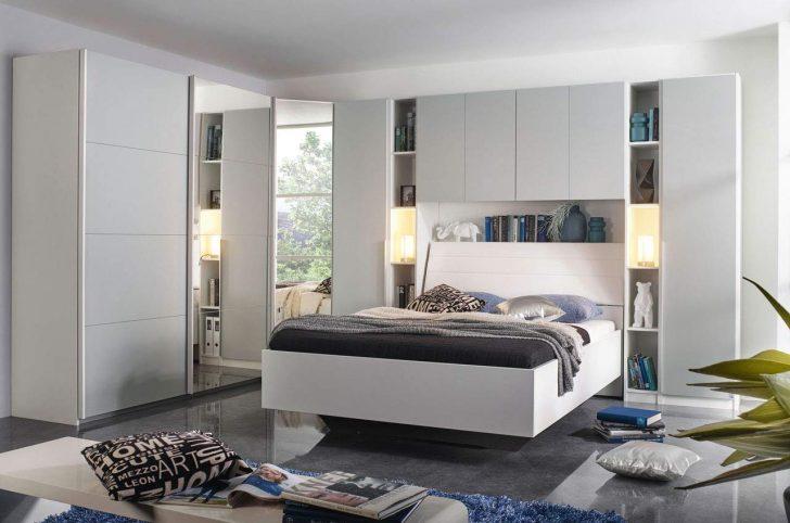 Medium Size of Schlafzimmer Mit überbau Lifestyle4living Komplett Set In Wei Und Grau Bett 160x200 Lattenrost Matratze Esstisch 4 Stühlen Günstig 2 Sitzer Sofa Schlafzimmer Schlafzimmer Mit überbau