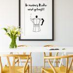 Sprüche Für Die Küche In Meiner Kche Poster Online Kaufen Ulrike Wathling Anthrazit L Mit Kochinsel Wandsprüche Bettwäsche Eckbank Folien Fenster Küche Sprüche Für Die Küche