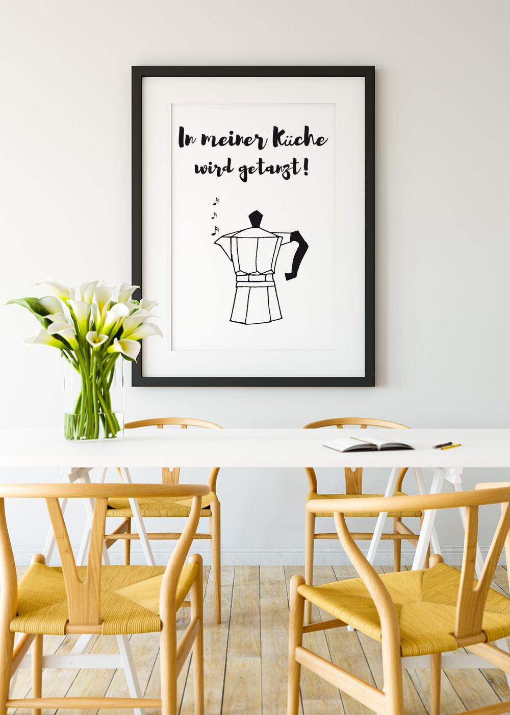 Full Size of Sprüche Für Die Küche In Meiner Kche Poster Online Kaufen Ulrike Wathling Anthrazit L Mit Kochinsel Wandsprüche Bettwäsche Eckbank Folien Fenster Küche Sprüche Für Die Küche