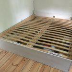 Bett 160x200 Mit Lattenrost Holz Wei Lackiert Selbst Gebaut Lattenroste In Küche Kaufen Elektrogeräten Betten Matratze Und 140x200 Paletten Bettkasten Bett Bett 160x200 Mit Lattenrost