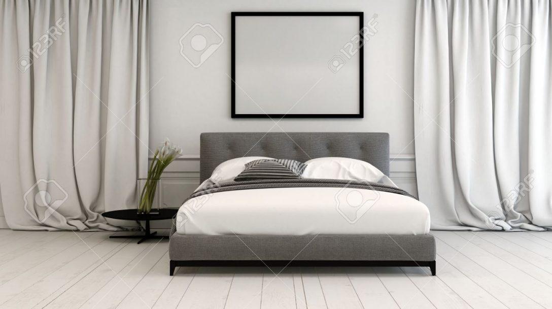 Large Size of Innenraum Schlafzimmer In Neutralen Tnen Mit Einem Romantische Massivholz Set Nolte Betten Led Wohnzimmer Vorhänge Landhausstil Wandtattoo Lampen Küche Schlafzimmer Vorhänge Schlafzimmer