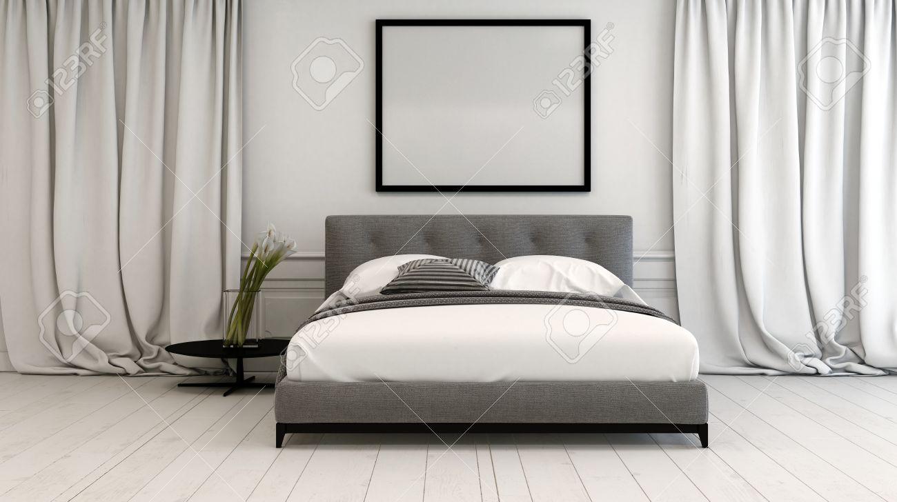 Full Size of Innenraum Schlafzimmer In Neutralen Tnen Mit Einem Romantische Massivholz Set Nolte Betten Led Wohnzimmer Vorhänge Landhausstil Wandtattoo Lampen Küche Schlafzimmer Vorhänge Schlafzimmer