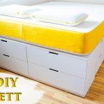 Einfaches Bett Bett Ikea Hack Bett Bauen Einfaches Diy Tutorial Fr Ein Plattform Weiß 180x200 Keilkissen 80x200 Stauraum Günstige Betten Schwarz Günstiges Kopfteil Für Breit