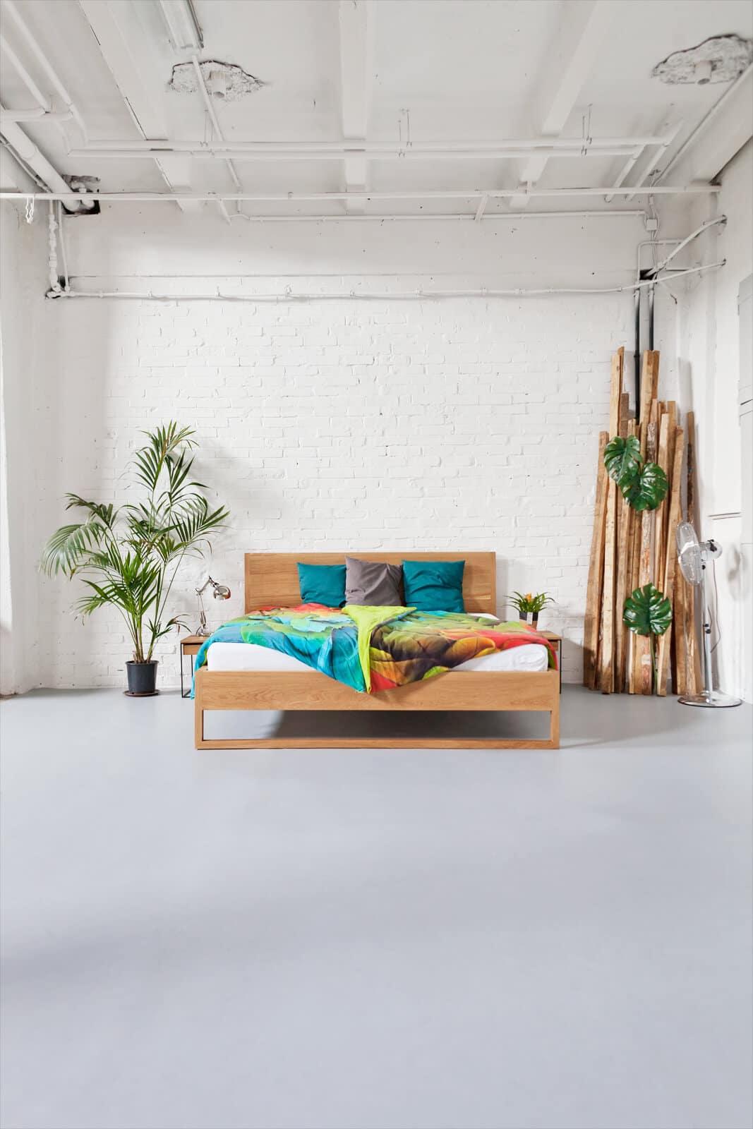 Full Size of Pure Oak Bett 101 N51e12 Design Manufacture Weißes Schlafzimmer Günstig Komplettes Landhausstil Set Weiß Massivholz Esstisch Nolte Komplett Schrank Mit Schlafzimmer Massivholz Schlafzimmer