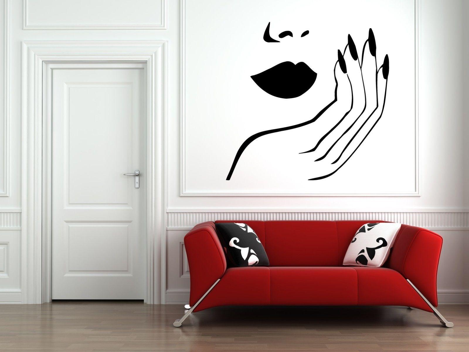 Full Size of Hwhd Wandtattoo Schlafzimmer Nagelstudio Frau Gesicht Lippen Hand Romantische Komplettangebote Vorhänge Komplett Weiß Landhaus Set Rauch Betten Mit Schlafzimmer Wandtattoo Schlafzimmer