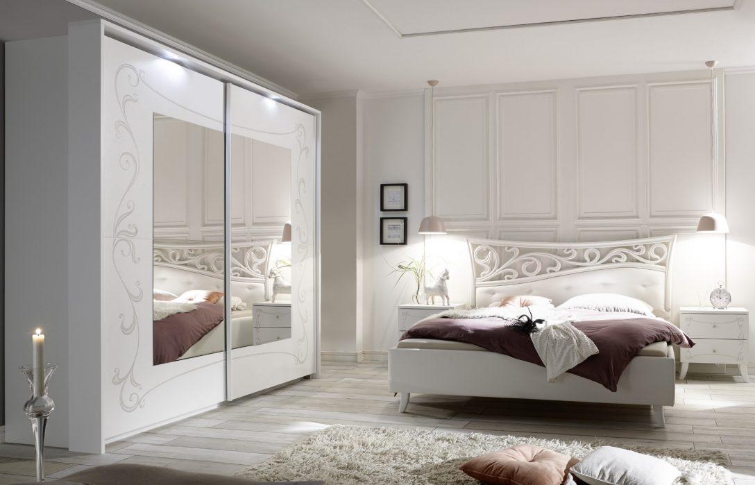 Large Size of Schlafzimmer Set Weiß Komplettset Weiss Siebdruck Selvio1 Designermbel Vorhänge Regal Lampe Sitzbank Sofa Grau Betten 140x200 Komplett Deckenleuchte Schlafzimmer Schlafzimmer Set Weiß