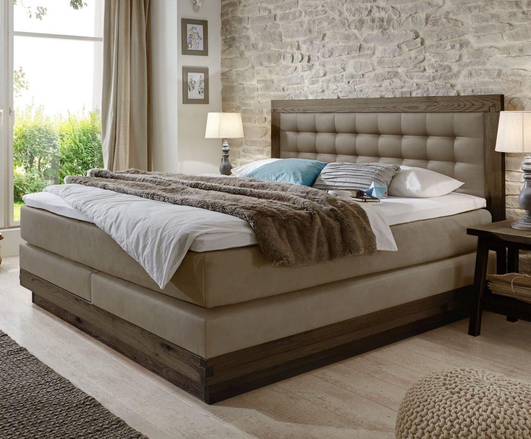 Large Size of Boxspringbett Aus Massiver Wildeiche Kunstleder Galicia Bett Betten.de