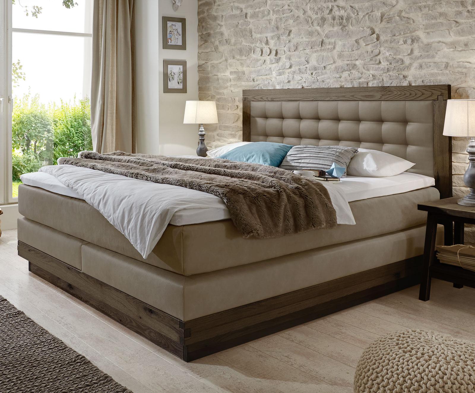Full Size of Boxspringbett Aus Massiver Wildeiche Kunstleder Galicia Bett Betten.de