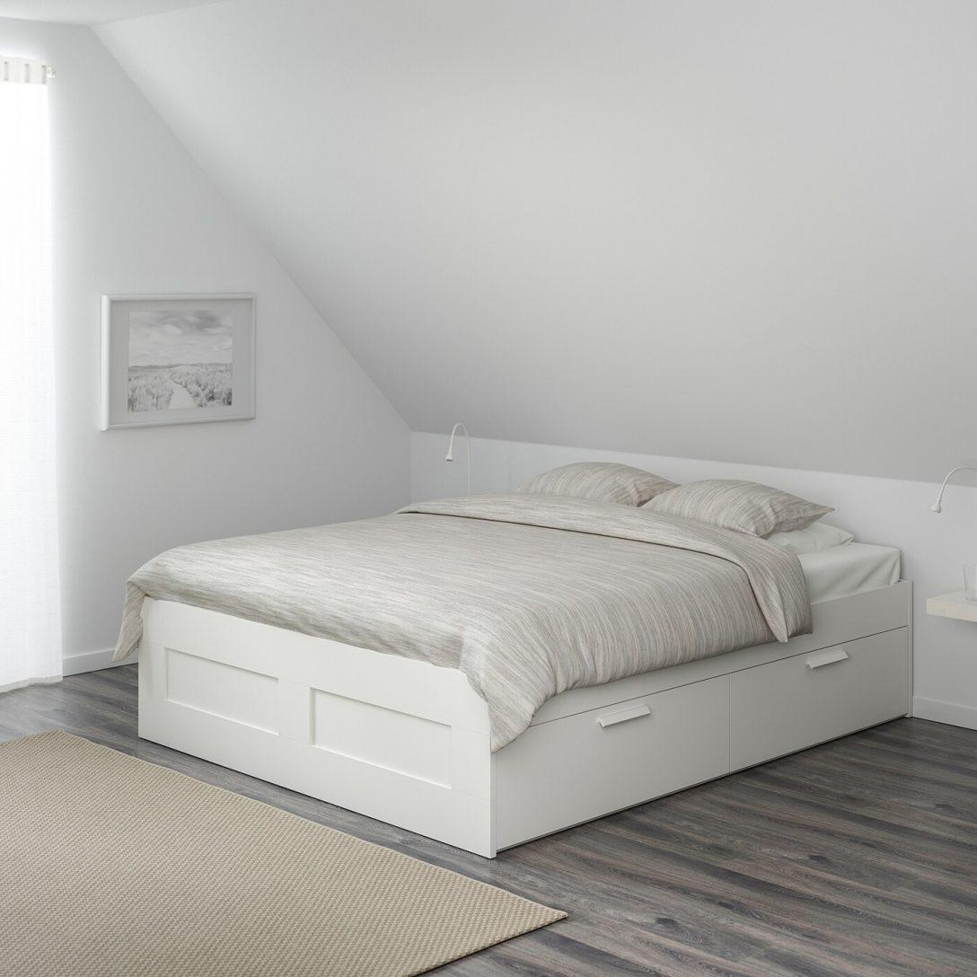 Large Size of Bett 160x200 Mit Lattenrost Brimnes Bettgestell Schubladen Wei Ikea Schweiz Stauraum 1 40x2 00 Betten Matratze Und 140x200 Französische Meise Keilkissen Bett Bett 160x200 Mit Lattenrost