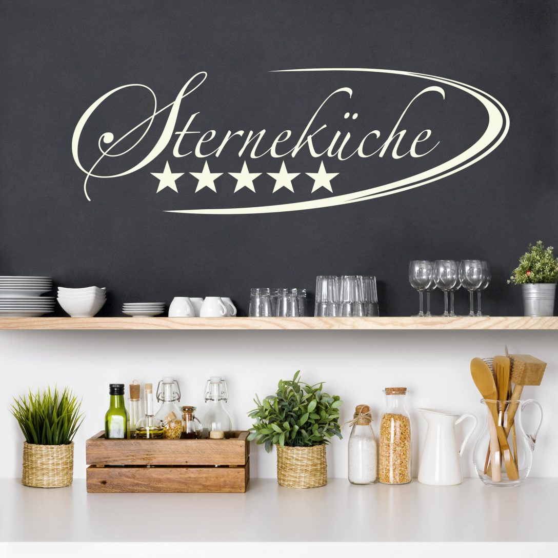 Large Size of Wandtattoo Kche Sternekche Sprüche Küche Nobilia Eckschrank Rosa Hochglanz Granitplatten Auf Raten U Form Mit Theke Armaturen Komplette Gardinen Für Die Küche Wandtattoo Küche
