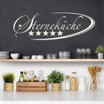 Wandtattoo Kche Sternekche Sprüche Küche Nobilia Eckschrank Rosa Hochglanz Granitplatten Auf Raten U Form Mit Theke Armaturen Komplette Gardinen Für Die Küche Wandtattoo Küche