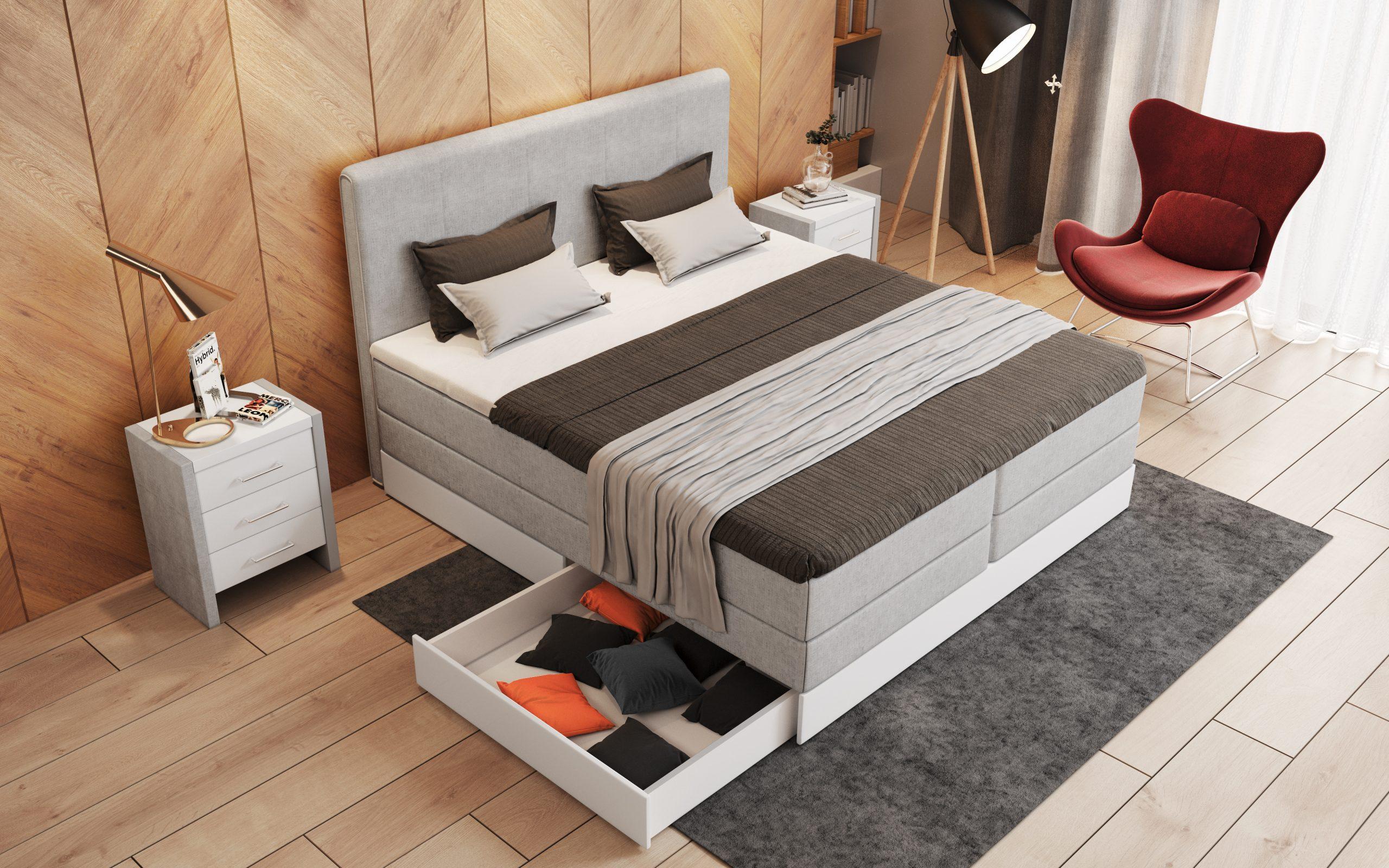 Full Size of Boxspringbett Mit Stauraum Mnster Belando Betten Bett Betten.de