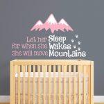 Nordischen Stil Berge Zitate Wandaufkleber Baby Schlafzimmer Teppich Stuhl Für Komplett Günstig Wandtattoo Sprüche Massivholz Wohnzimmer Günstige Gardinen Schlafzimmer Schlafzimmer Wandtattoo