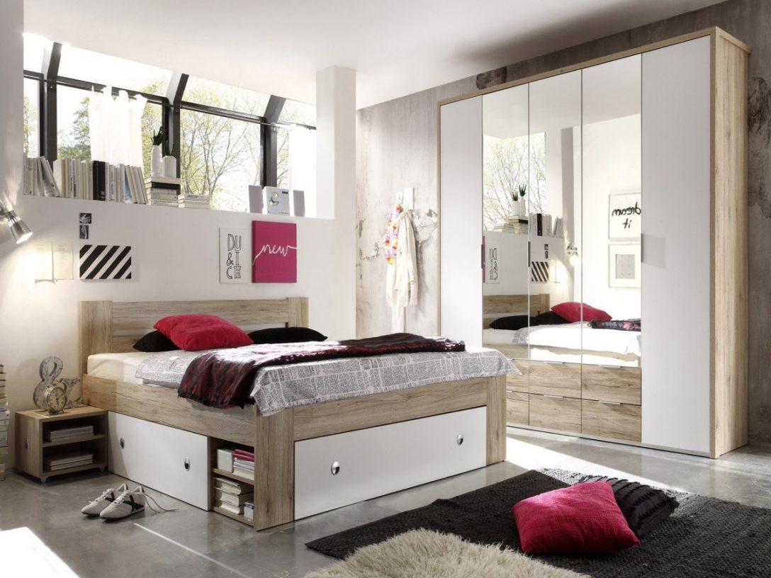 Large Size of Komplett Schlafzimmer Günstig Conny Eiche San Remo Weiss Set Mit Matratze Und Lattenrost Badezimmer Regal Küche Elektrogeräten Betten Kaufen Wohnzimmer Schlafzimmer Komplett Schlafzimmer Günstig