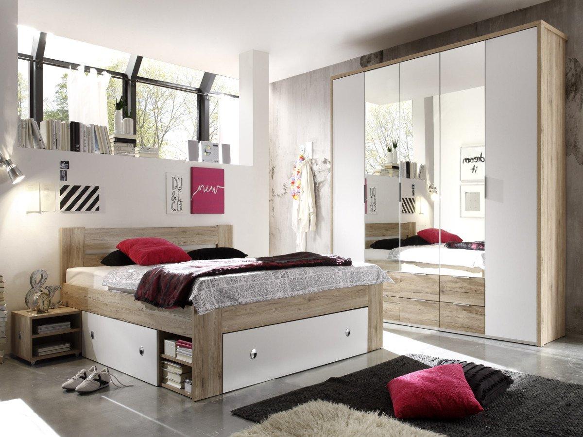 Full Size of Komplett Schlafzimmer Günstig Conny Eiche San Remo Weiss Set Mit Matratze Und Lattenrost Badezimmer Regal Küche Elektrogeräten Betten Kaufen Wohnzimmer Schlafzimmer Komplett Schlafzimmer Günstig