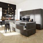 Küche Anthrazit Küche Portland 404   Anthrazit / Corona 19A   Arcticweiß Hochglanz