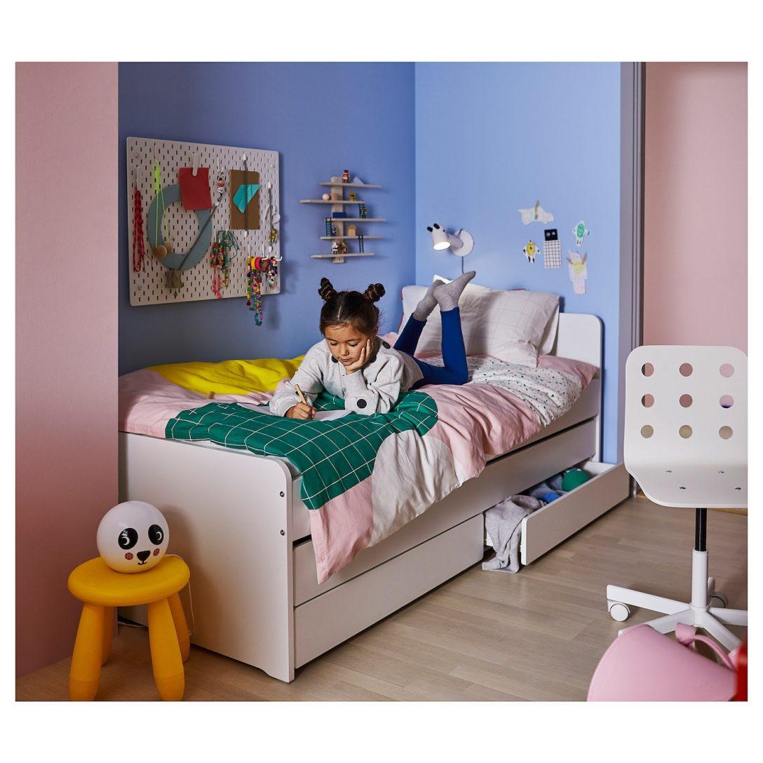Large Size of Bett Mit Unterbett Slkt Bettgestell Betten Bei Ikea Boxspring Hohes Kopfteil Gepolstertem 90x200 Lattenrost Und Matratze Wohnwert Grau Weiß 160x200 Sofa Bett Bett Mit Unterbett